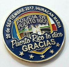 POLICIA PUERTO RICO Challenge Coin HURRICANE MARIA Disaster Relief Police Medal