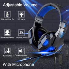 Gaming Kopfhörer Headset LED 3.5mm mit Mikrofon für PC Laptop PS3 PS4 Xbox One