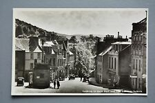 R&L Postcard: Scotland, Selkirk Looking to West Port, Classic Vintage Cars