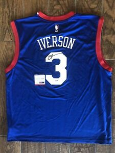 Allen IversonSigned Blue Philadelphia 76ers Basketball Jersey PSA/DNA