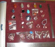Lot 25 bijoux ésotériques / lithothérapie Argent massif & pierre fine ou cristal