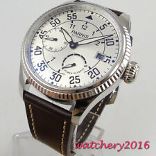 45mm parnis white dial Power Reserve Sea gull 2530 Automatic Movement Mens Watch