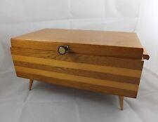 50er Design Rockabilly Nähkasten Schatulle Kleinmöbel sewing box Nähkästchen