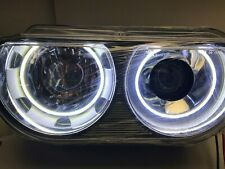 08-14 DODGE CHALLENGER HEADLIGHTS + FOGLIGHT SET - HID - PLASMA WHITE HALO R+L