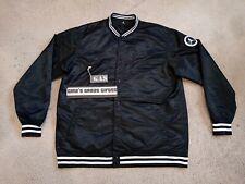 2006 Air Jordan Flight Satin Varsity Jacket Black Wht Sz 4XLT XXXXLT 327838 010