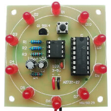 Lucky Rotary Suite Electronic Suite Cd4017 Ne555 Led Kits Pulse Generator Di_sCc