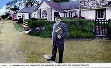 Gretna Green:  R Rennison who has conducted 5147 marriages - with marriage 'log'
