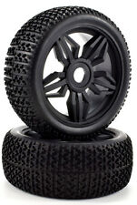 Apex RC Products 1/8 Off-Road Buggy Black Diamond Wheels / Nub Tires #6035