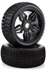 Apex RC Products 1/8 Off-Road Buggy Black Diamond Wheels / Nub Tires #6035