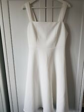 BEAUTIFUL LADIES OFF WHITE ASOS DRESS. SIZE 16. FIT/FLARE SHAPE. VERY FLATTERING