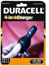 Amazing Duracell 4-in-1 Wall & Car Charger With 2 USB Ports
