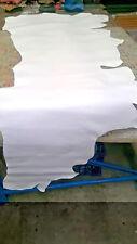 Genuine Leather Hide. Brilliant White Classic Full grain grade (A), Many uses.