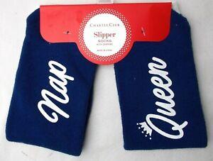 "Socks Women's Crew Charter Club ""Nap Queen"" Blue  Size 9-11"
