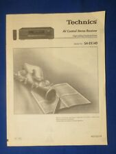 Technics SA-EX140 Receiver Owner Manual Factory Original The Real Thing