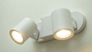 CGC White Double 2 Heads GU10 Adjustable Ceiling Light Suface Mount LED 20W IP20