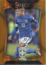 Panini Select Soccer 2015 Orange Base Card #22 Neymar Jr - Brazil