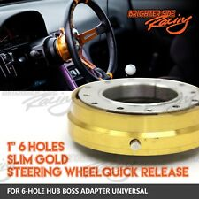 FOR FORD MUSTANG CARS QUICK RELEASE KIT FOR 6-BOLT AFTERMARKET STEERING HUB GOLD