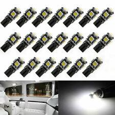50X T10 Led Canbus Error Free 5 SMD Car Side Wedge light Bulb White 168 194 W5W