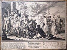 Eau-forte et burin, XVIIIe siècle, chasse et bohémiens, Setlezky d'après Decker