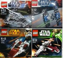 4xLEGO Star Wars Originale Trilogie Raumschiffe 8028 30056 30240 30272 Polybags