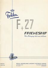 FOKKER F-27 FRIENDSHIP - DESCRIPTION AND PERFORMANCE - 1954