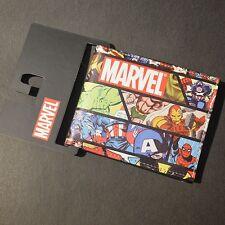 NEW MARVEL COMICS SUPERHEROES BIFOLD FAUX LEATHER WALLET SUPERHERO MENS BOYS