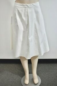 Banana Republic White Cotton Blend Women's skirt Size 2 On Sale