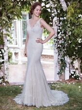"Rebecca Ingram Maggie Sottero ""Lauren"" Wedding Dress, Size 14, Ivory/Soft Pearl"