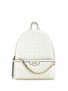 Victoria's Secret VS Studded V-Quilt Small City White Backpack NWT