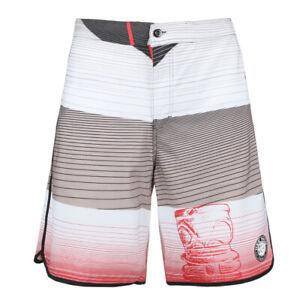 Men's Stripe Texture Board Shorts Leisure Novelty Surf Fast Dry Swim Trunks