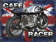 Vintage Garage Norton Cafe Racer, Old British Motorcycle, Gift, Fridge Magnet