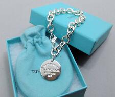 Tiffany & Co. RTT Return to Tiffany Disc Tag Charm Bracelet Large Silver 925 NEW