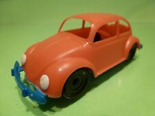 VINTAGE PLASTIC VW VOLKSWAGEN BEETLE - ORANGE  L11.0cm -  NICE CONDITION