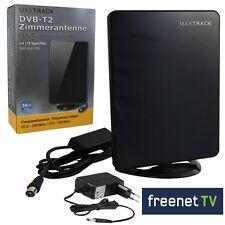 Zimmerantenne mit 30dB Verstärker TV-Radio DVB-T2 UKW DAB+ Freenet.TV Digital HD