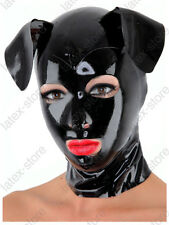 3431 Latex Rubber Gummi Dog Puppy Mask Hood customized catsuit club wear 0.4mm