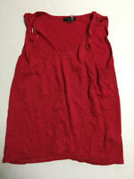 1.State Women's Sleeveless V-Neck Twist Tank Top Red Size Small S