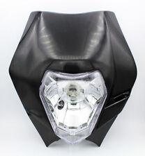 Lichtmaske Lampenmaske EXC Verkleidung KTM 125-530 Headlight Schwarz 08-13