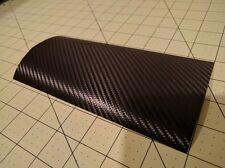 "3M Black Carbon Fiber Black CF Vinyl Wrap Sample piece 4"" x 8"" inches"