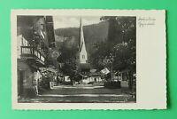 OBB 6) Bayern AK Bayrischzell 1936 Dorfplatz Gebäude Häuser Kirche Geschäft