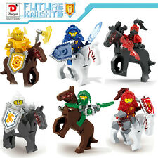 6sets Children toys bricks Building Blocks Train FUTURE KNIGHTS AND Horses 10cm