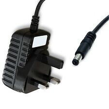 12V DC UK Mains Power Supply Adapter 2.1mm / 5.5mm Jack 1m Cable