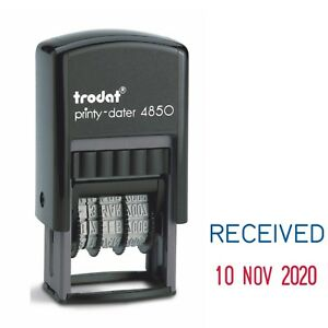 RECEIVED DATE STAMP SELF INKING RUBBER DATER STAMP TRODAT 4850 76313 from 2021