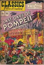 Classics Illustrated Comic Book #35, Last Days of Pompeii HRN 35 Edition #1 FINE