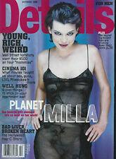 MILLA JOVOVICH 1999 Details magazine HEATHER DONAHUE Cybermodel Webbie Tookay