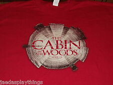 Cabin In the Woods T Shirt Horror Movie Dated Promo Red Size XL