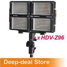 4 x HDV-Z96 96 LED Professional HD Video Light Kit Z96 LED Video Light