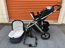 UPPAbaby VISTA Stroller System Black With Seat And Bassinet Nice Clean Condition