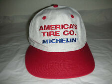 Vintage? AMERICA TIRE CO. MICHELIN  Embroidered Sports Ball Cap Hat snap strap