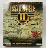 Empire II (2): The Art of War Big Box PC, 1995 Rare Computer Video Game Sealed