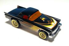 Vintage HOT WHEELS 57 T-bird Black Ford Thunderbird Gold Snowflake